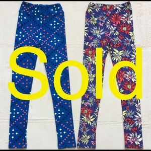 LuLaRoe Little Girls Leggings, Size LG/XL, Size 8